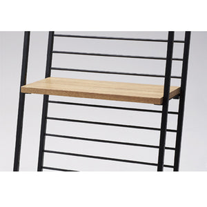 Haco Marché - Wooden Shelf W60cm with Bracket for Hand Truck - Rustic