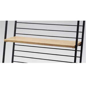 Haco Marché - Wooden Shelf W90cm with Bracket for Hand Truck - Rustic