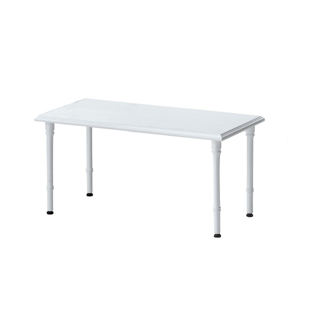 Turned Leg Display Table - White