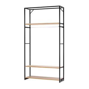 Lateral 4 Slim Shelf Rack frame with hanging rail attachment