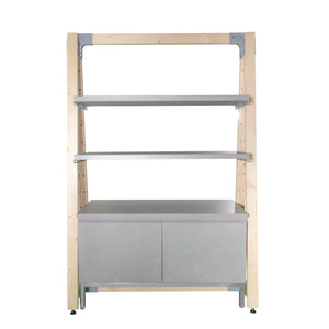 display shelf unit cement delta