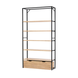 Lateral 4 - Shelving Unit with Drawer - Rustic