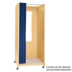 Portable Folding Fitting Room without Curtain - Maple