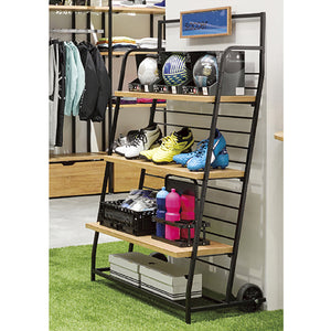 Haco Marché - Hand Truck with Wooden Shelf Unit