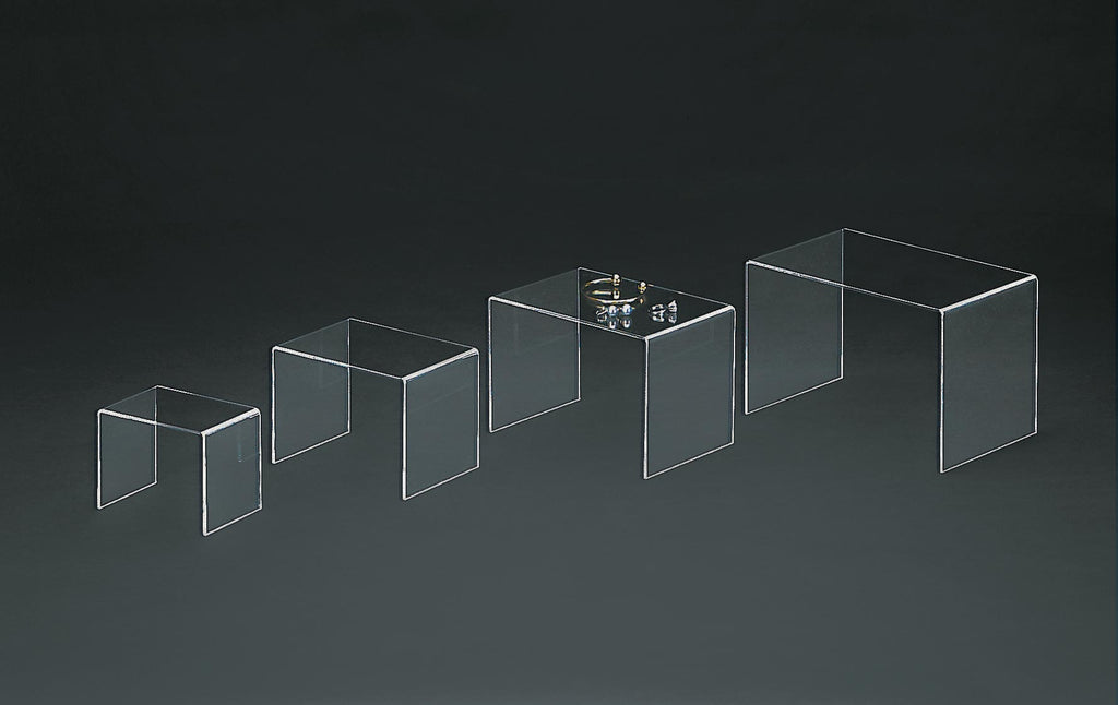 clear acrylic display podium