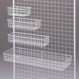 white mesh basket for gridwall panels