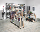 sports shop designed by store express with cement delta display furniture