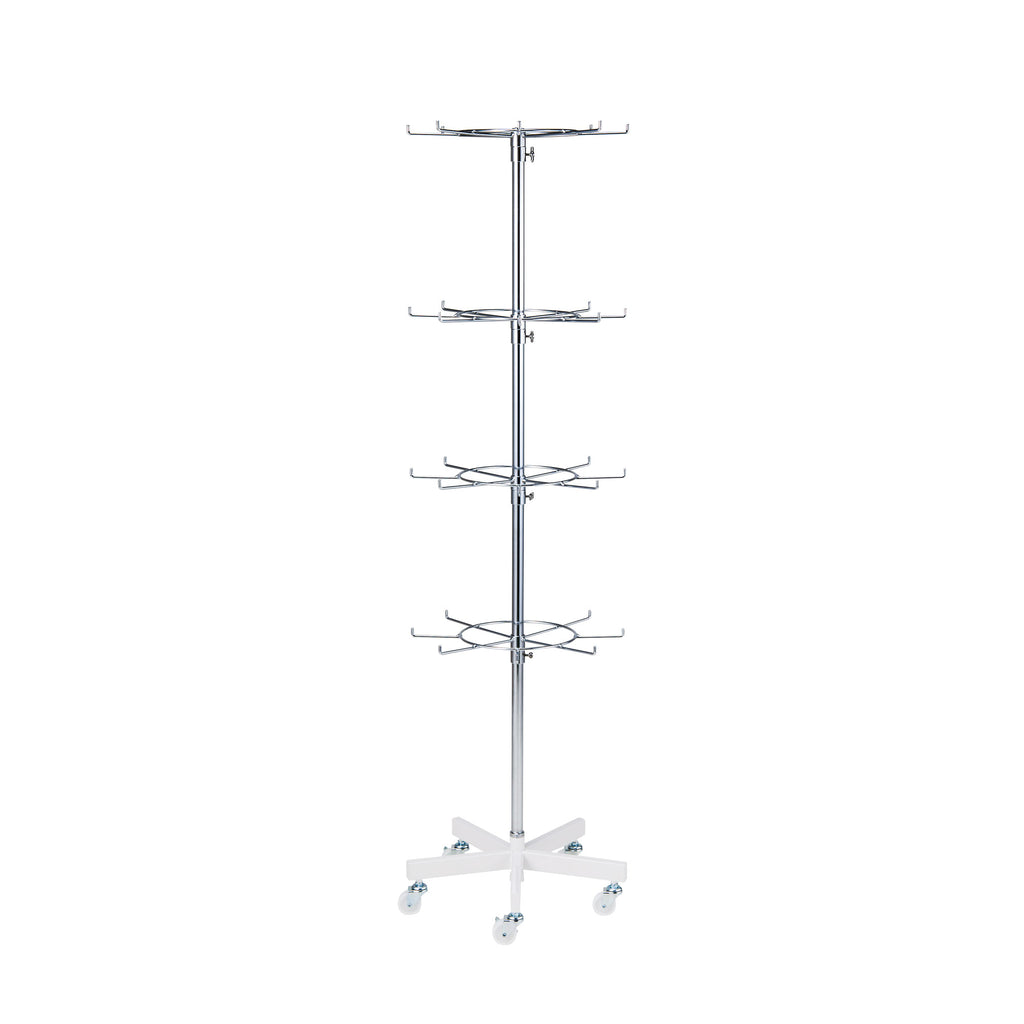 4-tier Rotatable Rail With Prongs