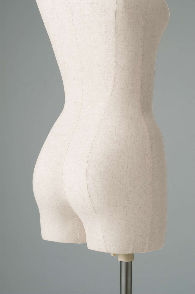 female tailor's dummy backside close-up