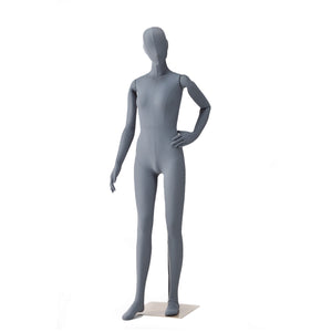 female flexible sports mannequin in grey colour