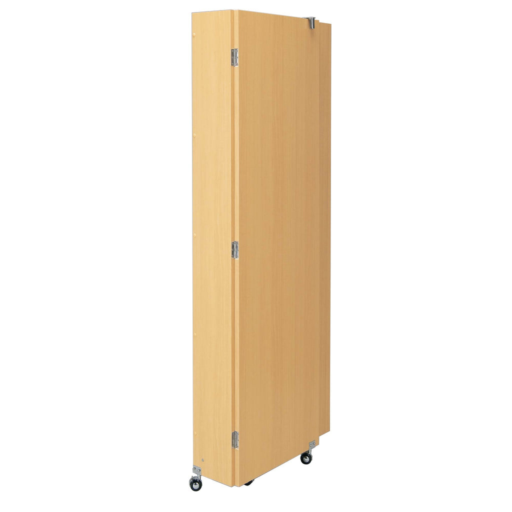 portable folding fitting room in folded state