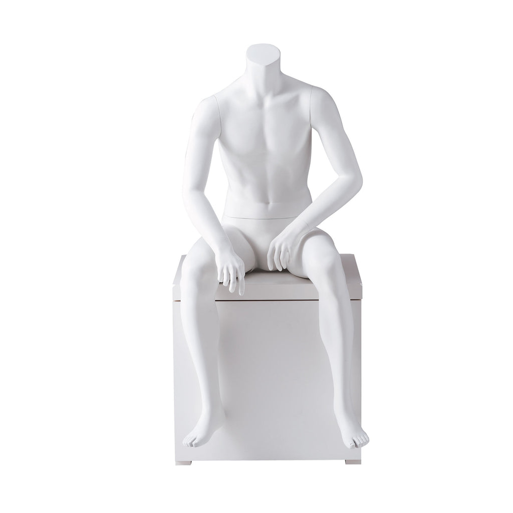 Headless Male Mannequin - Sitting