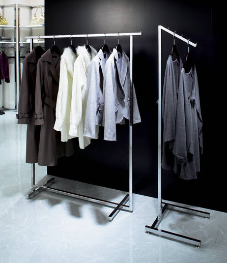 Modern Multi-Arm Clothes Stand - Chrome