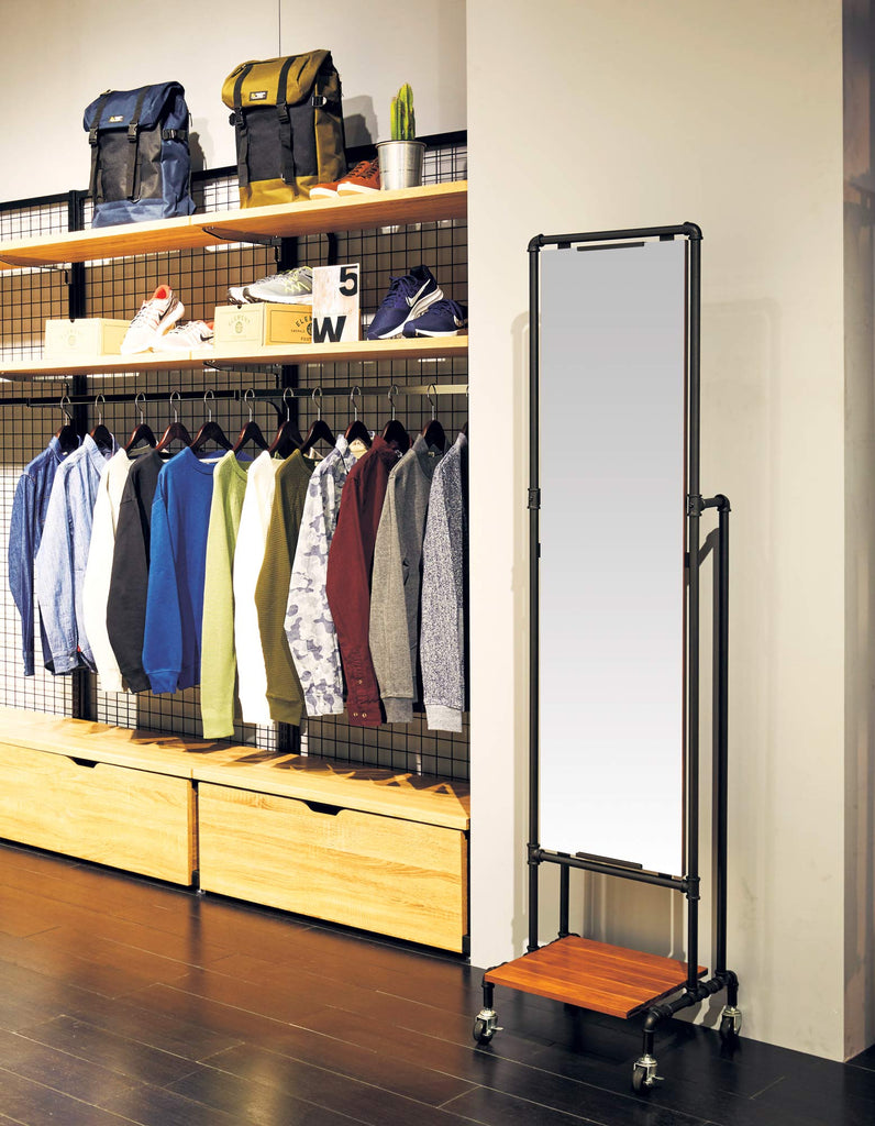 Urban Mirror with Display Shelf
