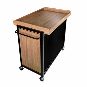 haco marche food trolley with blackboard front to write menu's on