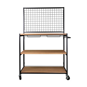 haco marche retail trolley with gridwall top
