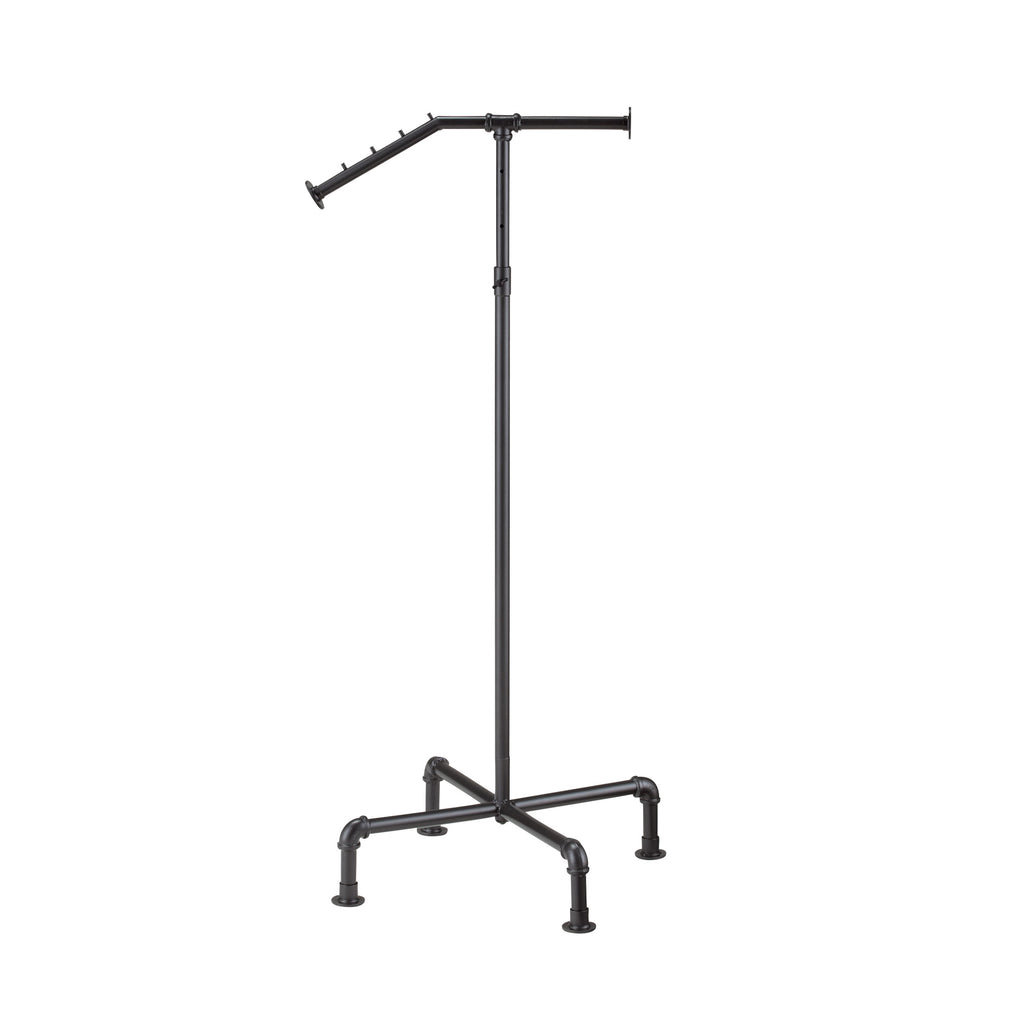 Black Gas Pipe Waterfall clothes stand