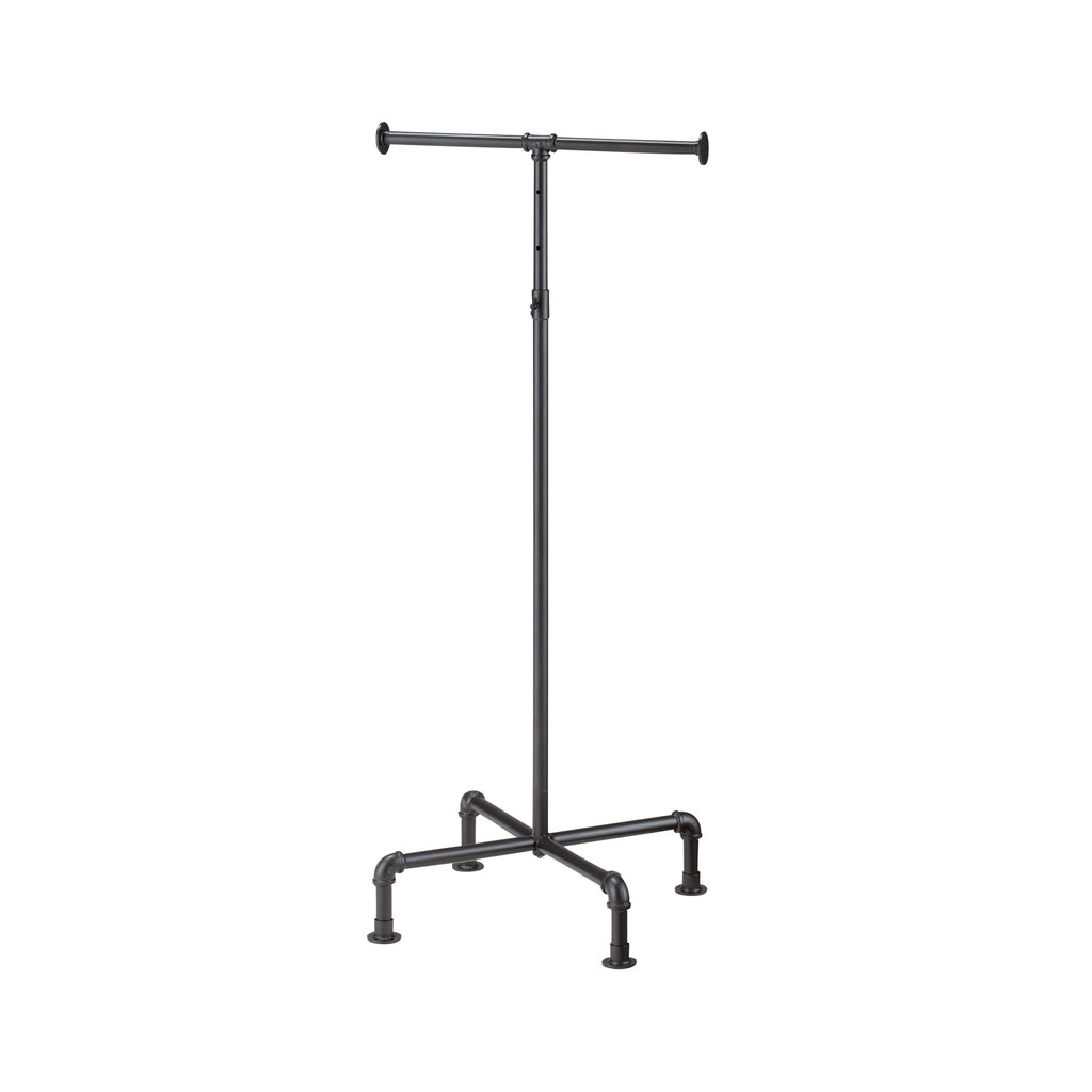 Black Gas Pipe straight-arms clothes stand