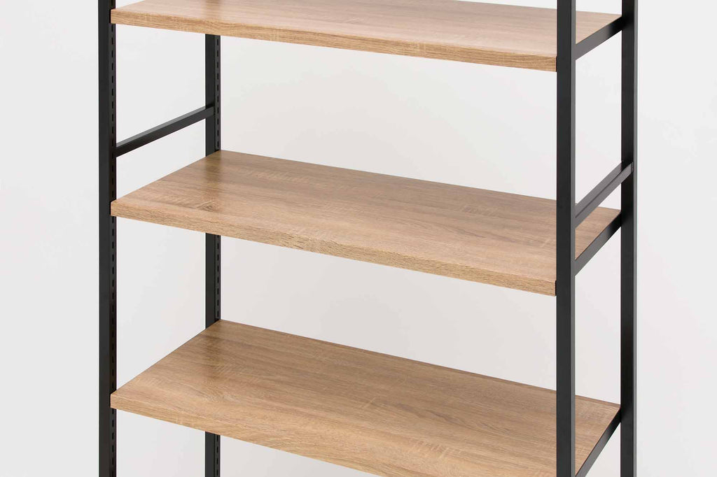 lateral 4 shelf rack unit shelf close up