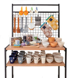 haco marche retail trolley with gridwall top and products displayed on it