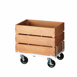 portable display crate on casters - width 60cm