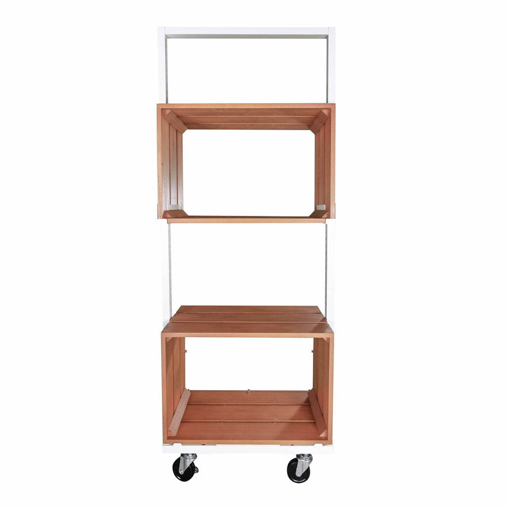 Tumiki - Display Cabinet W54cm on Casters H150cm