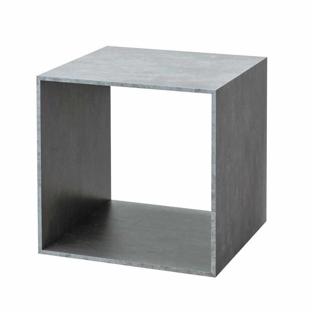 Set of Large Concrete look display cube