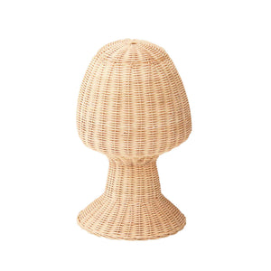 woven rattan hat display stand
