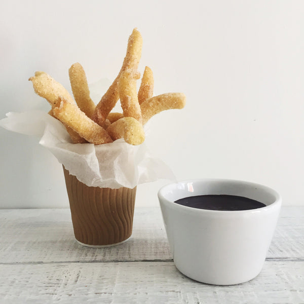 Churros with Doisy & Dam melted chocolate dip
