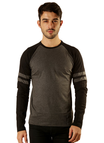UD Sports Casual Cotton Men's Grey T-Shirt