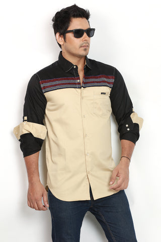 Rapphael Casual  Solid Slimfit Shirt for men