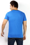UD Sports Men's V-Neck Half Sleeve Blue T-Shirt
