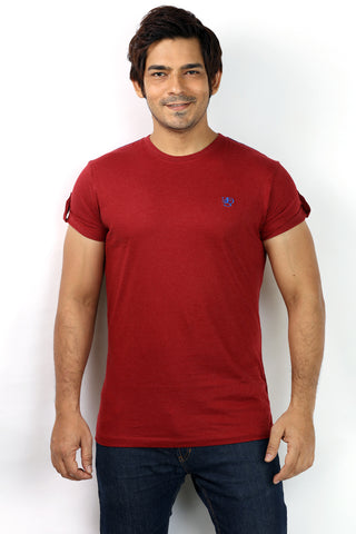 UD Sports Men's Plain Red Half Sleeve T-Shirt