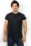 UD Sports Men's Plain Black Half Sleeve T-Shirt