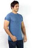 UD Sports Men's Plain Medium Blue  Half Sleeve T-Shirt
