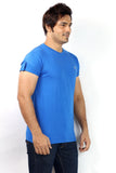 UD Sports Men's Plain Blue Half Sleeve T-Shirt