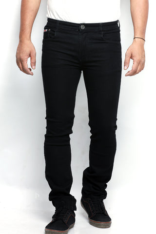 Indwins Men's Black Regular Fit Jeans