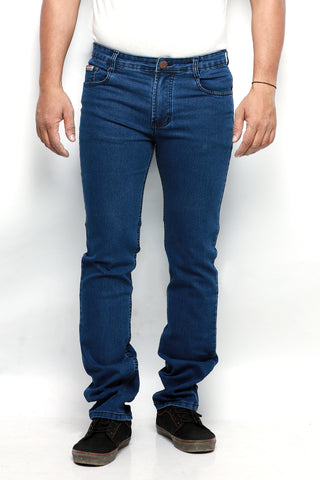 Indwins Men's Dark Blue Regular Fit Jeans