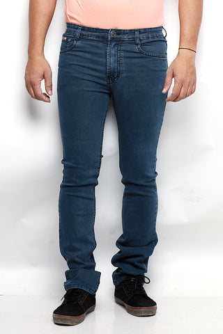 Indwins Men's Blue Regular Fit Jeans