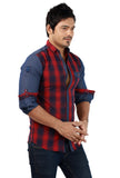 Rapphael   Casual Slimfit Shirt for men - Red