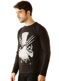 UD Sports Casual Cotton Men's Wolverine Black T-Shirt