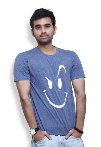 Furious Active Smiley Mid Blue T-Shirt