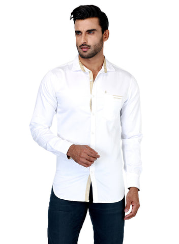 Rapphael Casual Plain Slimfit  Shirt for men