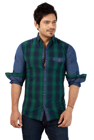 Rapphael  Casual Slimfit Shirt for men - Green
