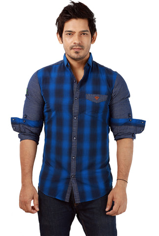 Rapphael  Casual Slimfit Shirt for men - Blue