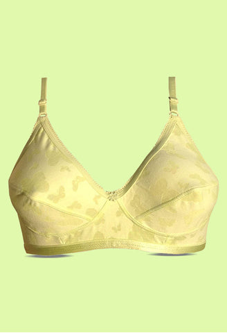 Angelform Annabel Lemon Yellow Women's Lingerie Cotton Bra