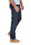 Indwins Men's Navy Blue Regular Fit Jeans