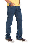 Indwins Blue Men's Regular Fit Jeans