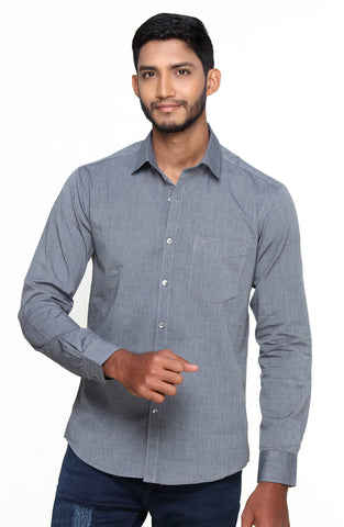 Botticelli Charcoal Grey color Classic shirt for men Full sleeve