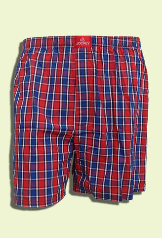 Jockey Assorted M-Size Men's Checked Boxer Shorts